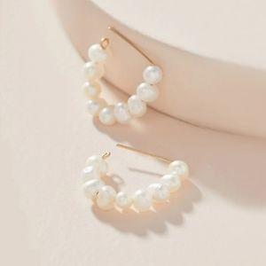 Anthro Mini Pearl Earrings